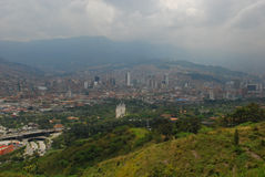 Medellin skyline, Colombia. Medellin skyline on a cloudy morning, Colombia Royalty Free Stock Photos