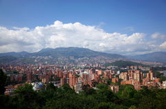 Medellin skyline. On a sunny day Stock Image