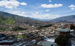 Medellin, stad in Colombia stock foto's