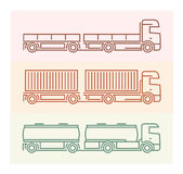 MedelPictograms: Europélastbilar - tandemcyklar 1 Arkivfoto