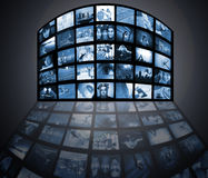 medelteknologitelevision arkivfoton