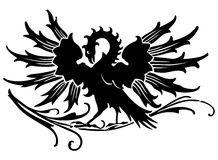 medeltida örn Arkivfoto