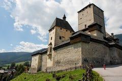 medeltida Österrike slottmauterndorf Fotografering för Bildbyråer