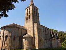Medeltida abbey av St Papoul Fotografering för Bildbyråer