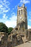 Medeltida Abbey Tower, Kilwinning, norr Ayrshire Skottland Fotografering för Bildbyråer