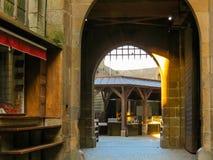 Medeltida abbotskloster Mont Saint-Michel, Frankrike Royaltyfria Bilder