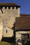 Medeltida by av helgonet Martin de Vers, lott, Frankrike Arkivfoto
