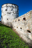 Medeltida befästning i Brasov, Transylvania, Rumänien. Arkivbild