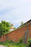 Medeltida befästningväggar Muri, Vinnytsia, Ukraina Royaltyfri Foto