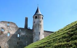 Medeltida biskops- slott Arkivfoton