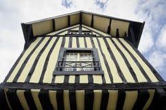 medeltida brittany france hus Arkivfoto