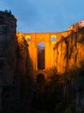Medeltida bro i Ronda Royaltyfri Foto