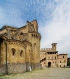 medeltida byggnader Royaltyfri Bild