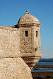medeltida cadiz fästning Royaltyfri Bild