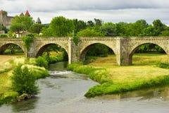 medeltida carcassonne slott Arkivfoton