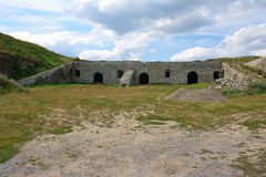 medeltida carpathians fästning Royaltyfri Foto