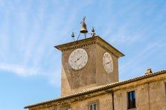 medeltida clocktower Royaltyfri Foto