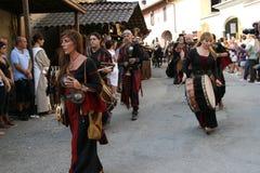 medeltida cornelianofestival arkivbilder
