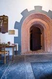 medeltida dörröppning Royaltyfri Foto