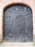 medeltida dörr fotografering för bildbyråer