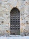 medeltida dörr Arkivfoto