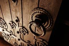 medeltida dörr Royaltyfria Bilder