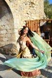 Medeltida dansare Arkivbild