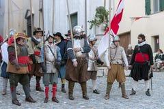 medeltida deltagare för dräkt royaltyfri bild