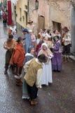 medeltida deltagare för dräkt fotografering för bildbyråer