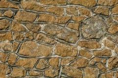 Medeltida detalj för stenvägg Arkivbilder