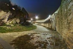 Medeltida Deva Fortress i Europa, Rumänien royaltyfri foto