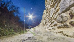 Medeltida Deva Fortress i Europa, Rumänien royaltyfri bild