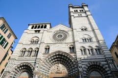 Domkyrka av Genova, Italien Royaltyfria Foton