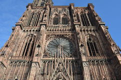 Medeltida domkyrka av Strasbourg i Frankrike Royaltyfria Foton
