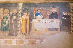 Medeltida domkyrka för Frescoes av Chioggia, monument, august 2016 Arkivfoton