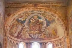 Medeltida domkyrka för Frescoes av Chioggia, monument, august 2016 Royaltyfria Bilder