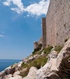 medeltida dubrovnik fort arkivbild