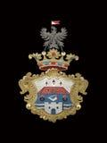 medeltida emblem royaltyfri fotografi