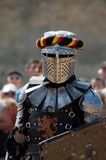 medeltida europeisk riddare Arkivfoto