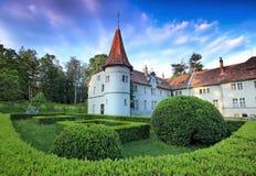 Medeltida europeiskt slott royaltyfria bilder