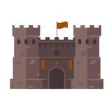 Medeltida fäste - fästningtorn stock illustrationer
