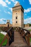 Medeltida fästning från det 14th århundradet i stadBac, Serbien Fotografering för Bildbyråer