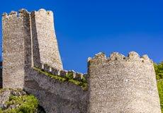 Medeltida fästning i Golubac, Serbien Arkivbilder
