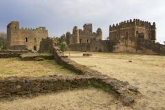 Medeltida fästning i Gondar, Etiopien, UNESCOvärldsarv Arkivfoto