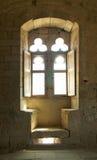 medeltida fönster Fotografering för Bildbyråer