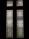 medeltida fönster Arkivbild