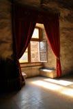 medeltida fönster Royaltyfria Bilder