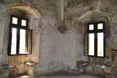 medeltida fönster Royaltyfri Fotografi
