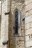 medeltida fönster Arkivbilder