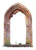 medeltida fönster för tegelsten Royaltyfri Fotografi